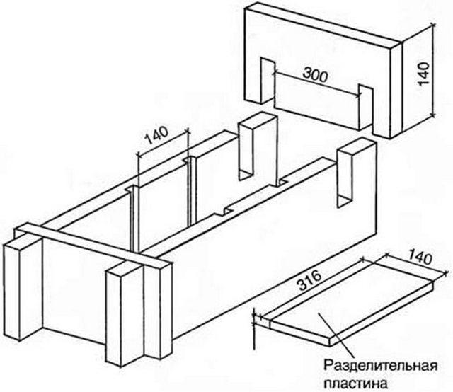 Арболитовые блоки своими руками чертежи