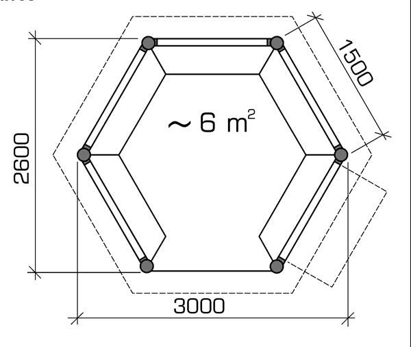 Шестиугольная беседка своими руками чертежи