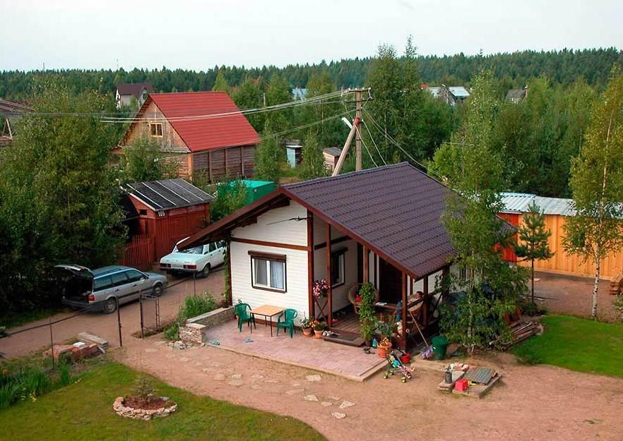 Дачный домик из бытовки своими руками фото