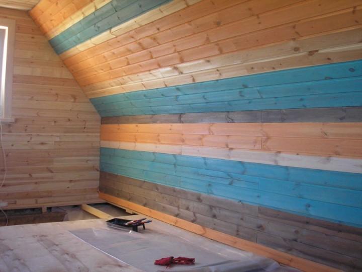 Покраска вагонки в доме фото