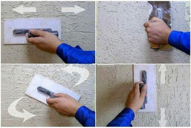 Как сделать штукатурка короед