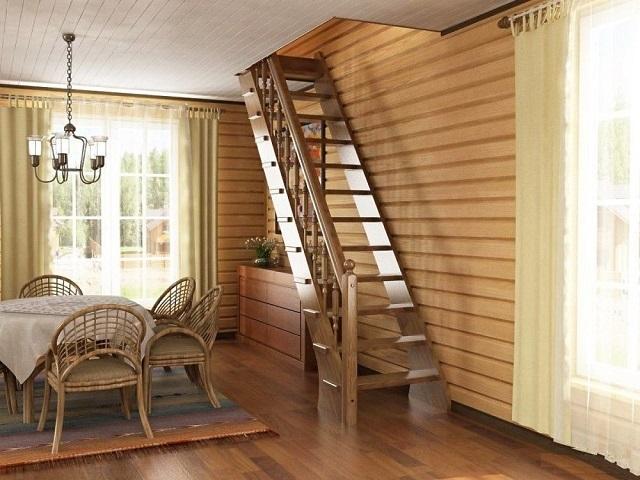 Лестницы своими руками в садовый домик 41
