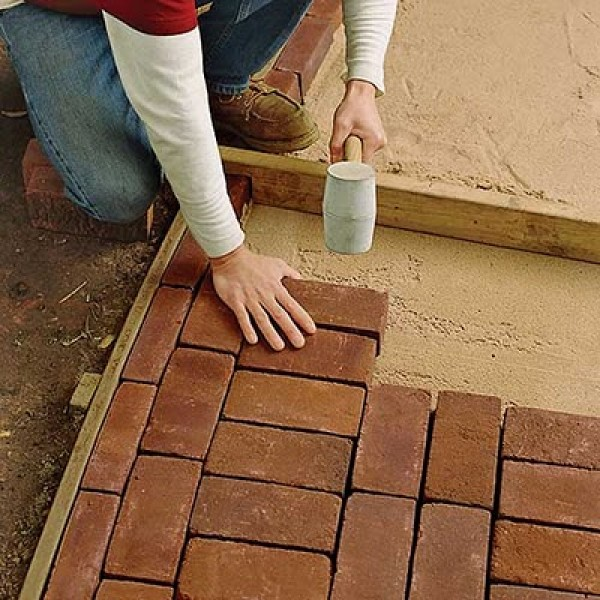 Тротуарная плитка кирпич своими руками