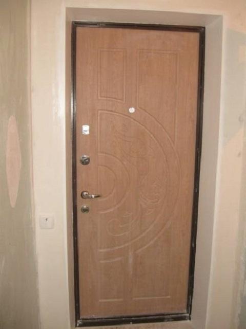 Внутренние откосы входной двери своими руками