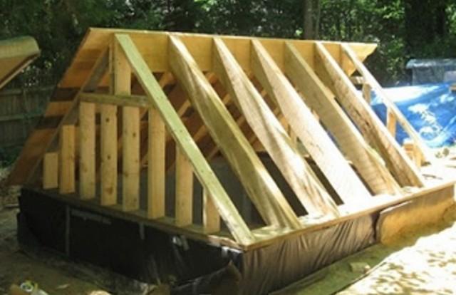 Как сделать крышу на погреб своими руками 656