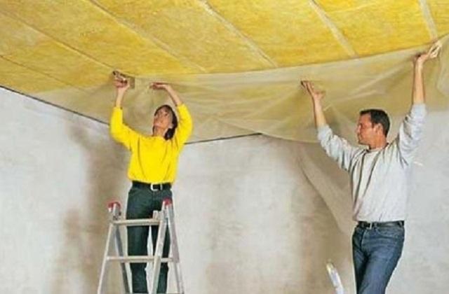 Утепление потолка в частном доме своими руками схема