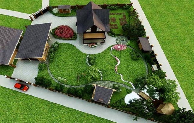 Дизайн дома на участке 6 соток