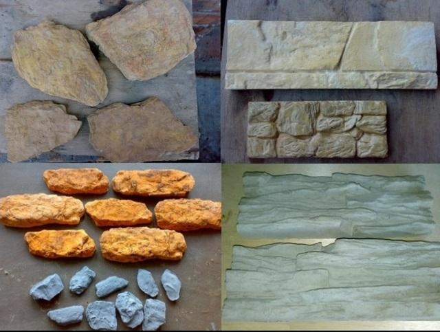 Как из цемента сделать камень