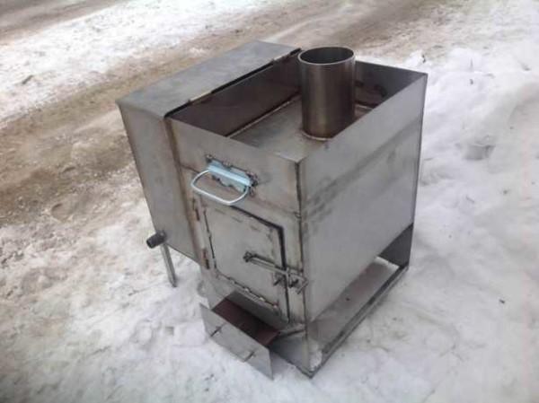 Как сделать металлическую печь
