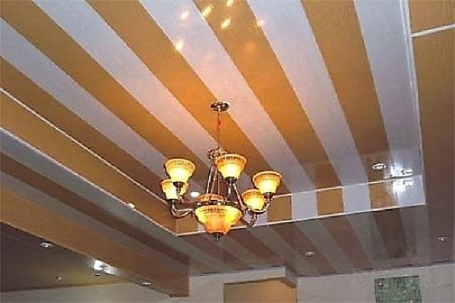 Потолок из пластика на кухне фото своими руками