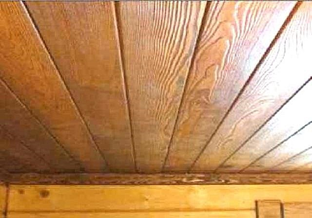 Потолок из шпунтованной доски своими руками 10