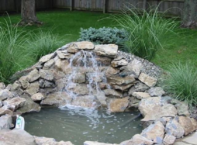 Как сделать водопад на пруду