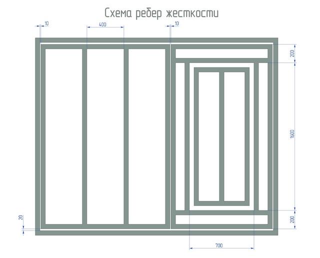 Гаражные распашные ворота чертежи
