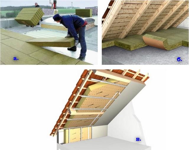 Как своими руками утеплить крышу дома 14