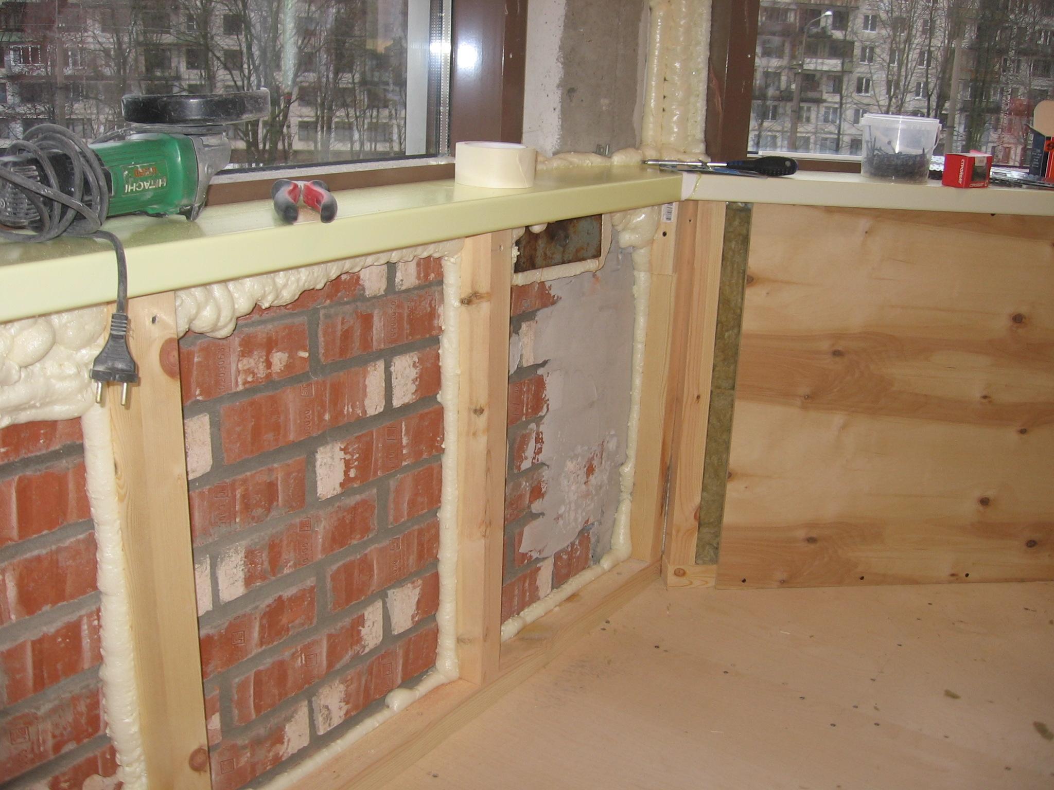 Утеплить стены балкон своими руками 687
