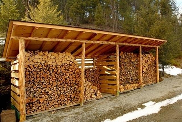 Как правильно сделать дровяник