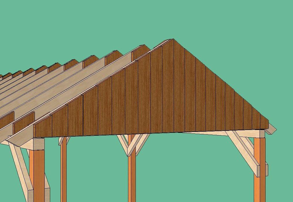 Как сделать двухскатный навес 420