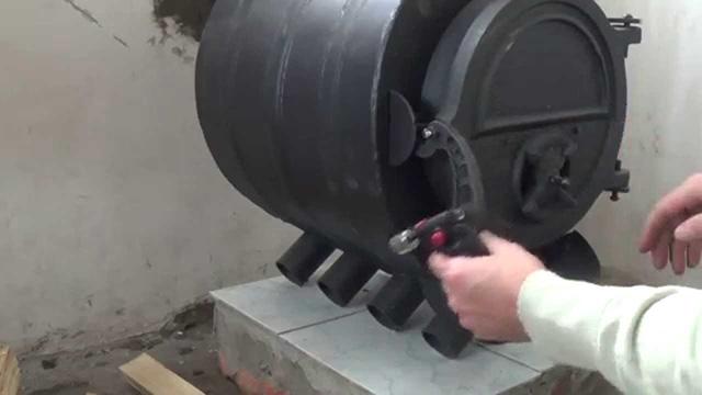 Печь Булерьян на несгораемом подиуме