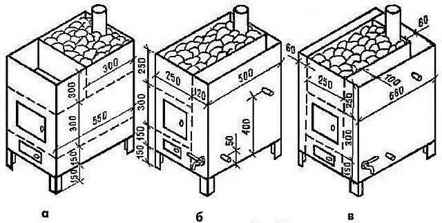 Схемы печей для бани из металла своими руками