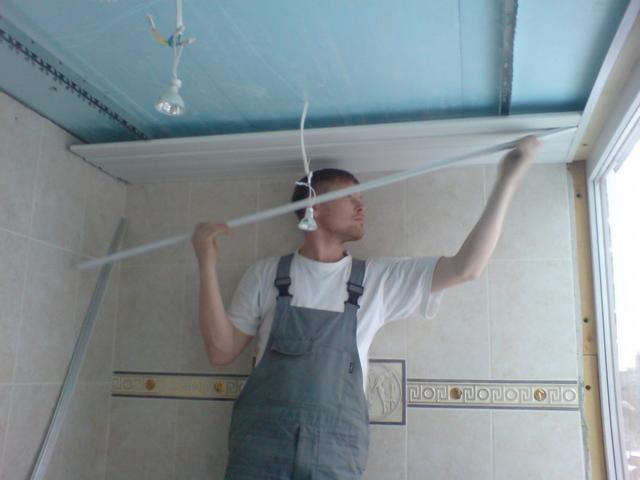 Пластиковые панели установка на потолок своими руками видео