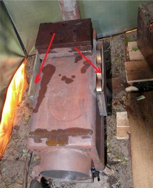 печь для походной бани своими руками из металла