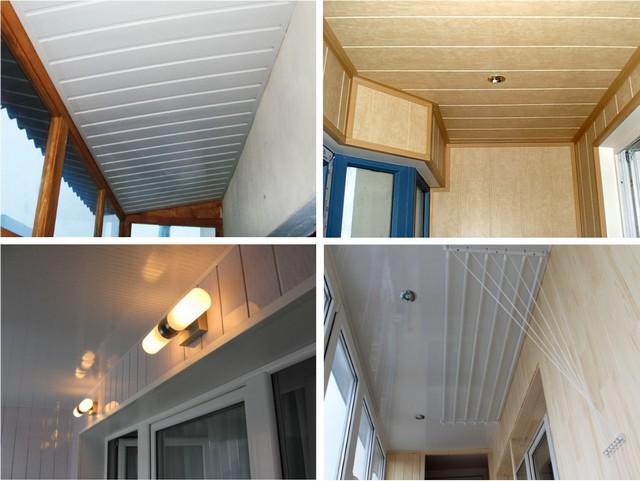 Как сделать пластиковый потолок на лоджии 519