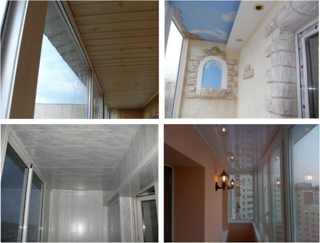 Потолок на балконе из чего сделать камины и печи екатеринбур.