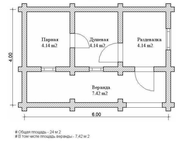 планировка бани срубы бани