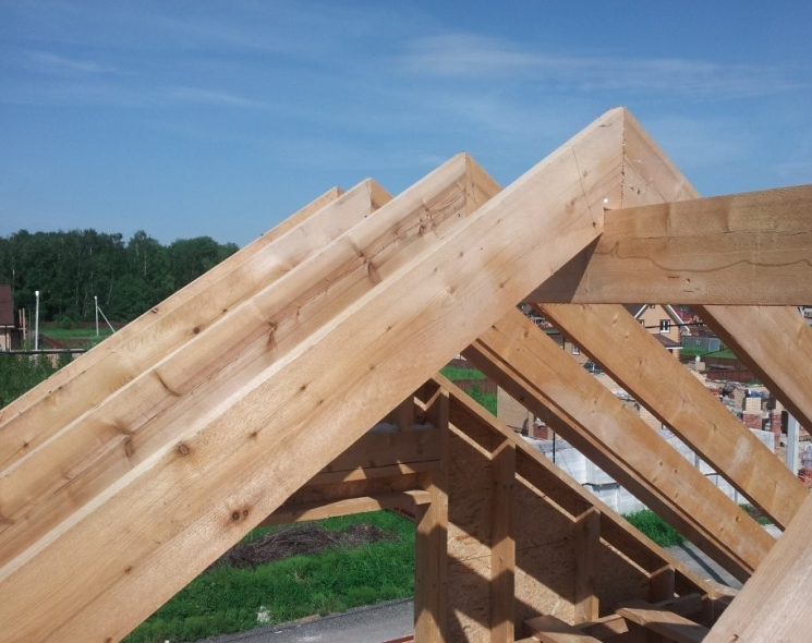 Своими руками двускатная крыша каркасного дома