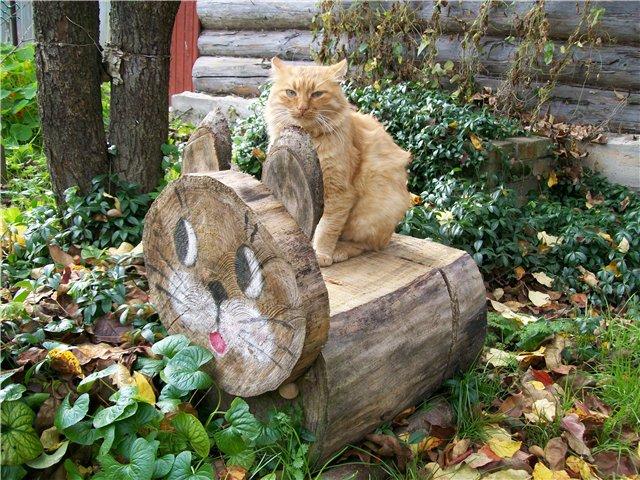 Фигурки для сада из дерева фото