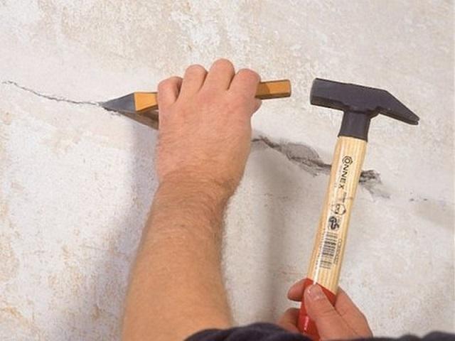 Как сделать трещины на стене своими руками 761