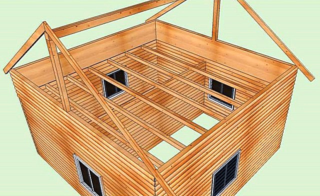 Как сделать крышу в полтора этажа 763