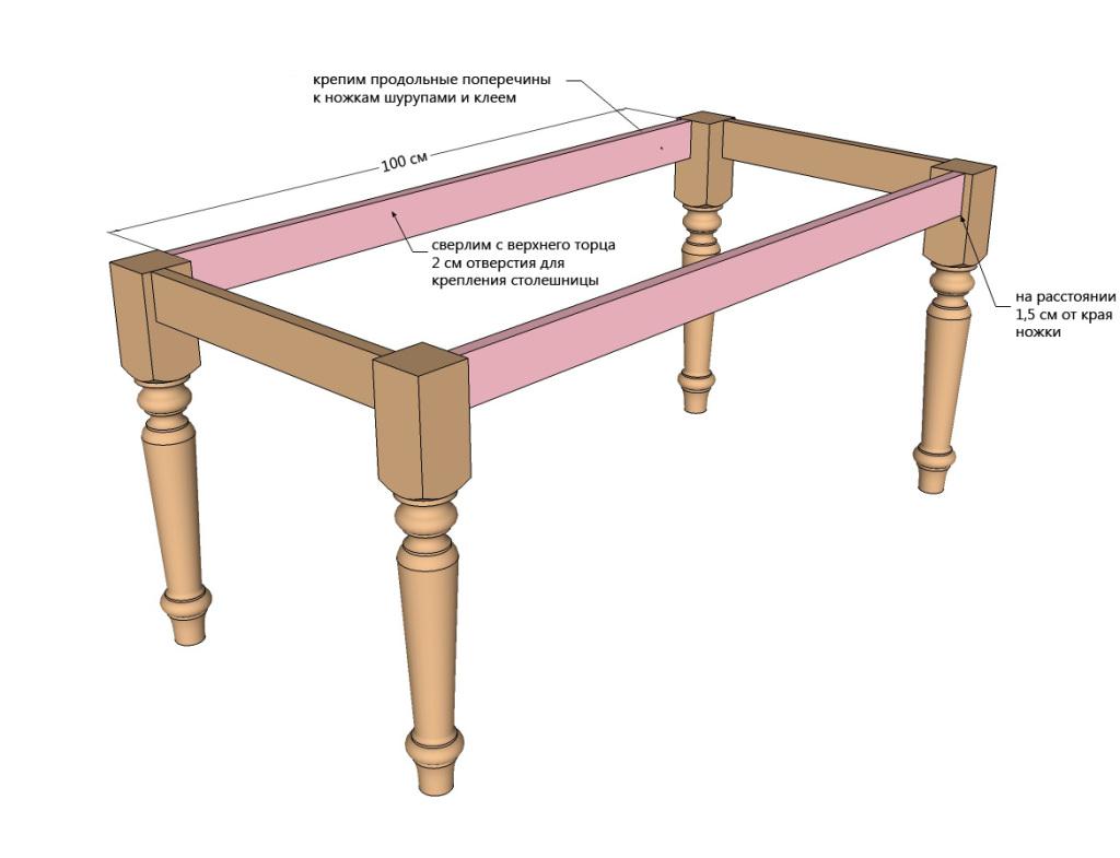 Как сделать обеденный стол своими руками видео