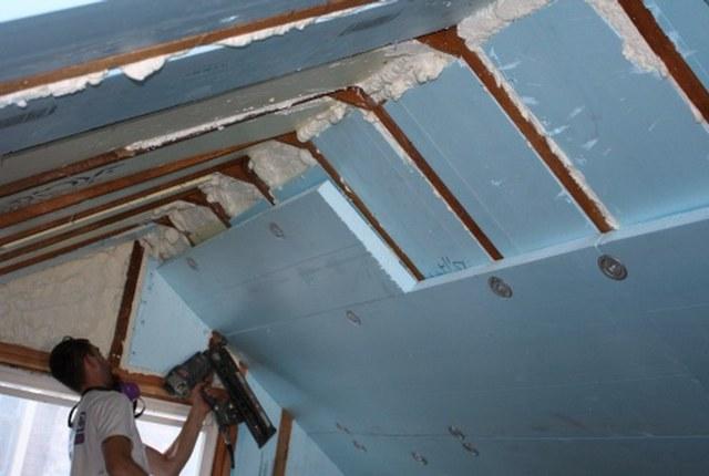 Утепление крыши мансарды изнутри пеноплексом