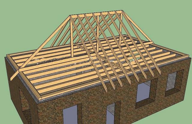 Как построить крышу дома своими руками четырехскатную