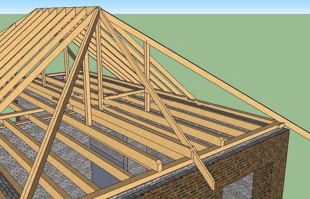 Четырехскатная крыша бани своими руками 92