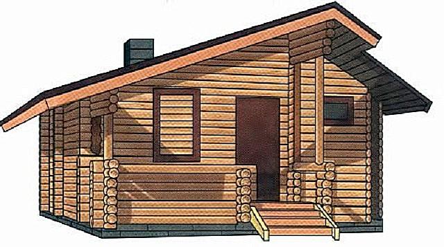 Крыша для бани двухскатная