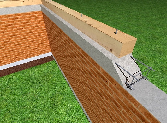 Существует несколько подходов к креплению мауэрлата на стене