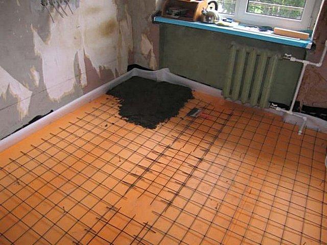 утепление пола пеноплексом по бетону